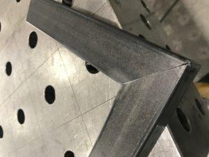 Elemento arredo acciaio lavorazione ferro nero calamina